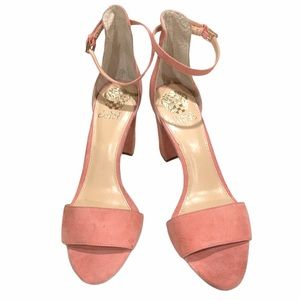 Vince Camuto Corlina  Suede Block Heeled sandal